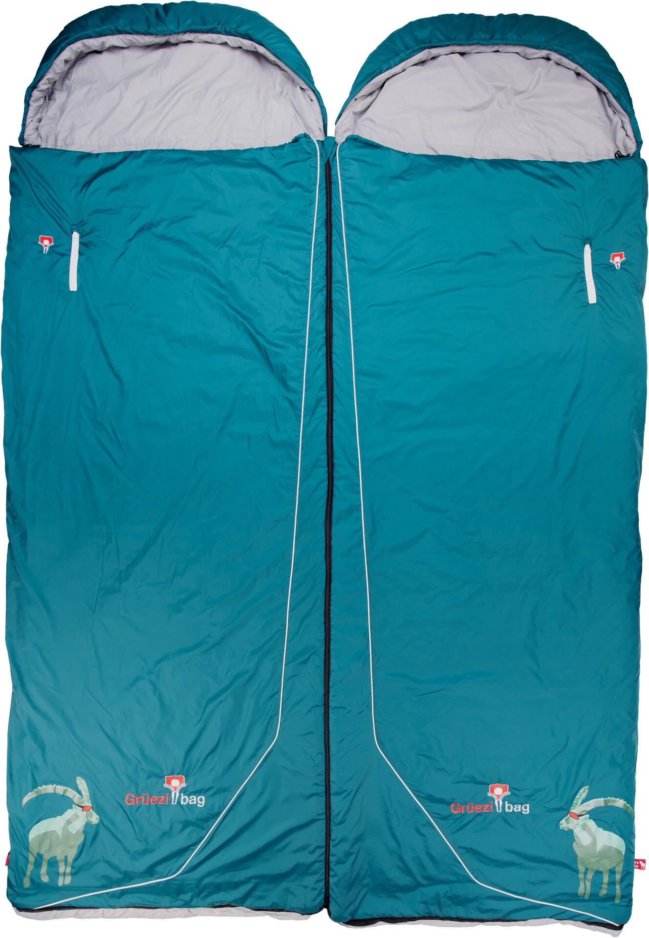 Grüezi Bag Biopod Wool Goas Comfort Sleeping Bag dark petrol